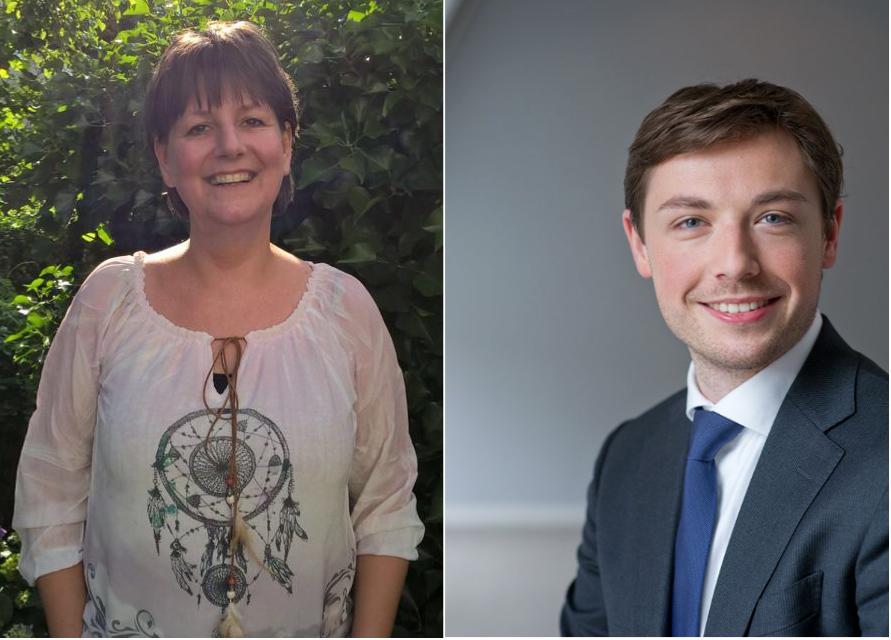 Nieuwe bestuursleden Judith Boerma en Jochem Streefkerk