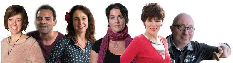 Op deze foto van links naar rechts: Maren Stoffels Gideon Samson Anna van Praag Janneke Schotveld Anneke Scholtens Arend van Dam