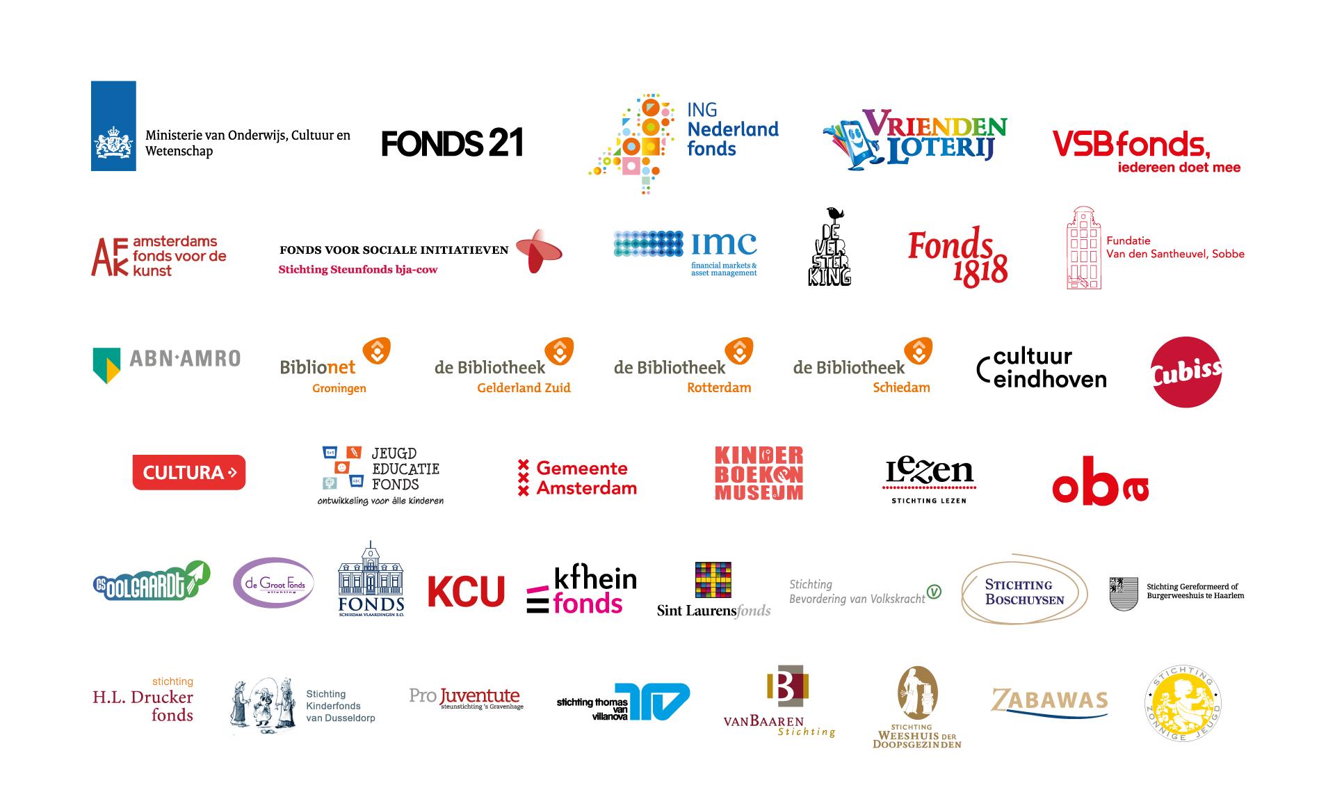 Financiers en partners van De Schoolschrijver